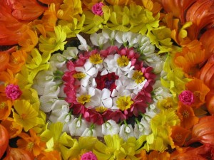 Onam Flower Arrangement