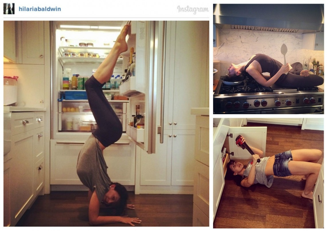 What's Cooking in the Kitchen: Celeb Crazy Yoga Postures