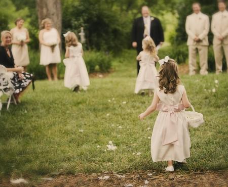 Spring Wedding Inspiration: Adorable Vintage Flower Girls