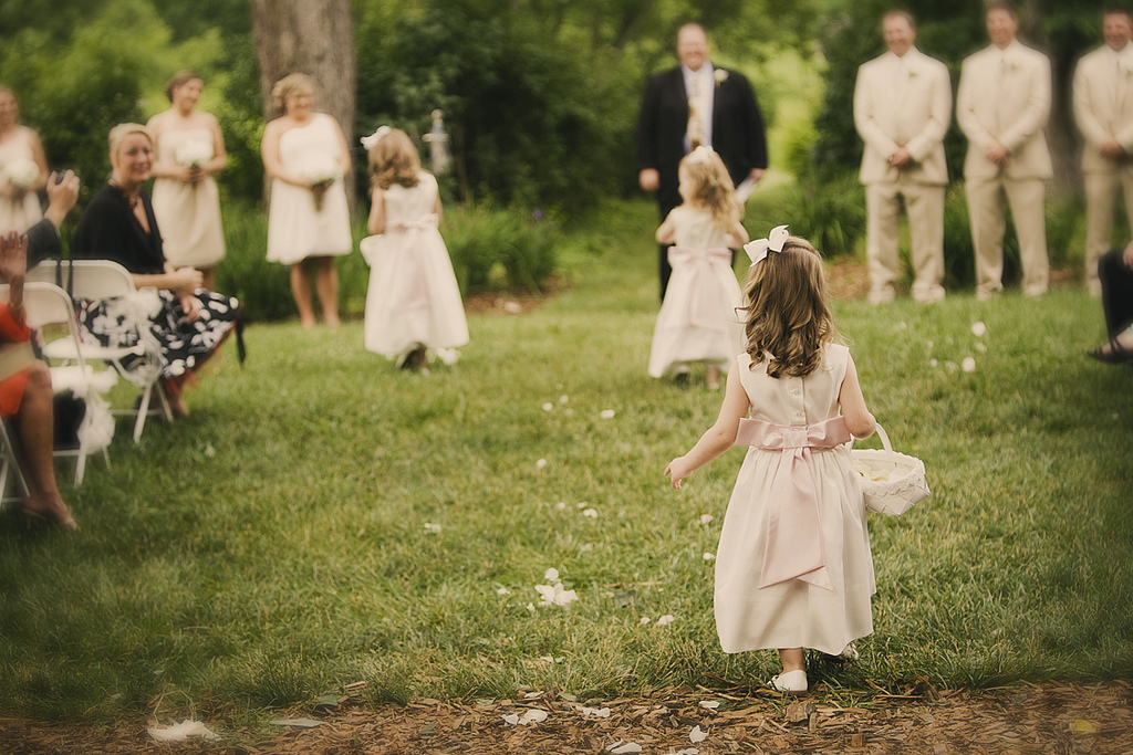 Spring Wedding Inspiration: Adorable Vintage Flower Girls