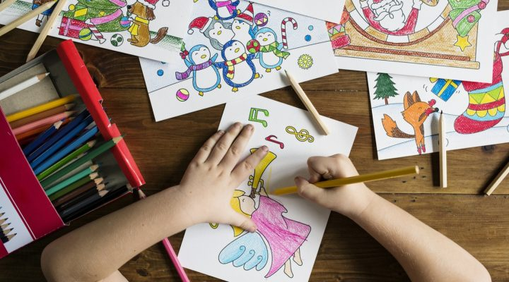Learn Colors by Drawing and Coloring